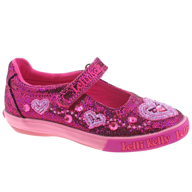 Lelli Kelly LK3020 (GW01) Purple Glitter Ava Dolly Shoes