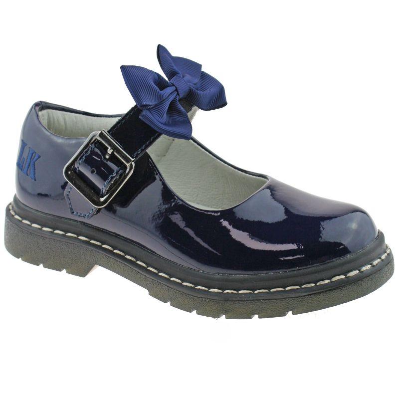 Lelli Kelly LK8360 (DE01) Audrey SNR Navy Patent School Shoes F Fitting