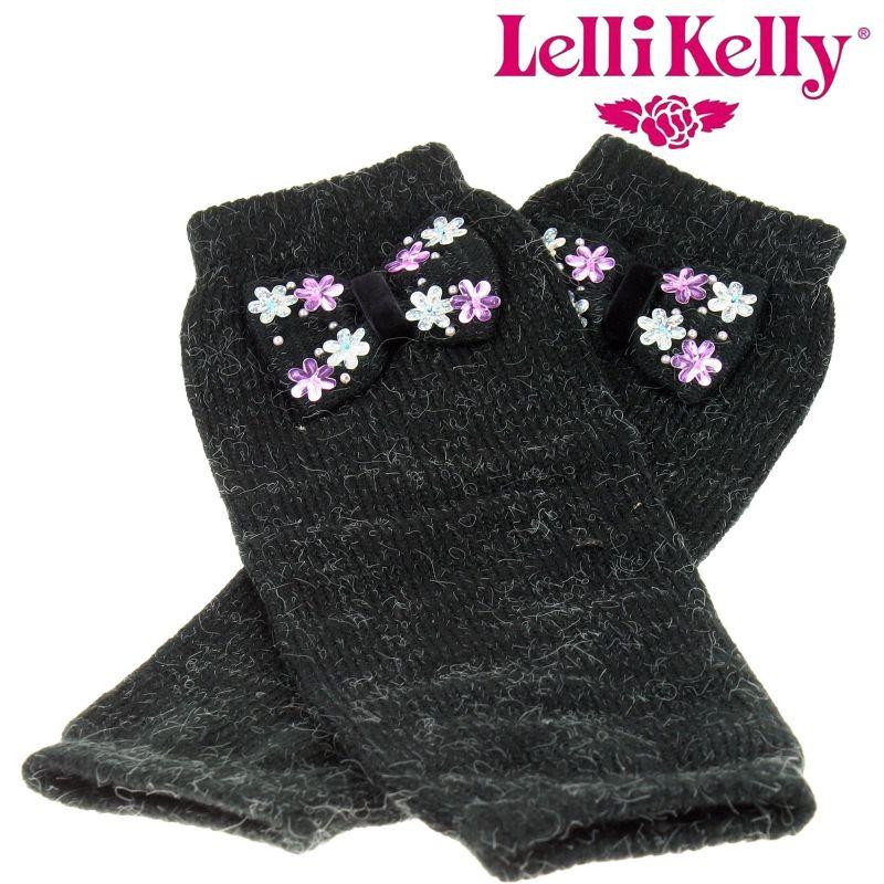 Lelli Kelly LK2211 Leg Warmers Black Bow