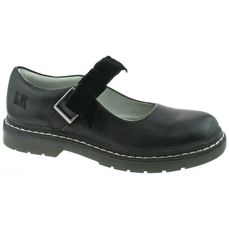 Lelli Kelly LK8286 (CB01) Frankie SNR Black Leather School Shoes F Fitting