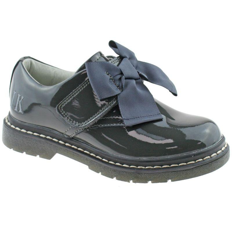 Lelli Kelly LK8284 (DR01) Irene SNR Grey Patent School Shoes F Width