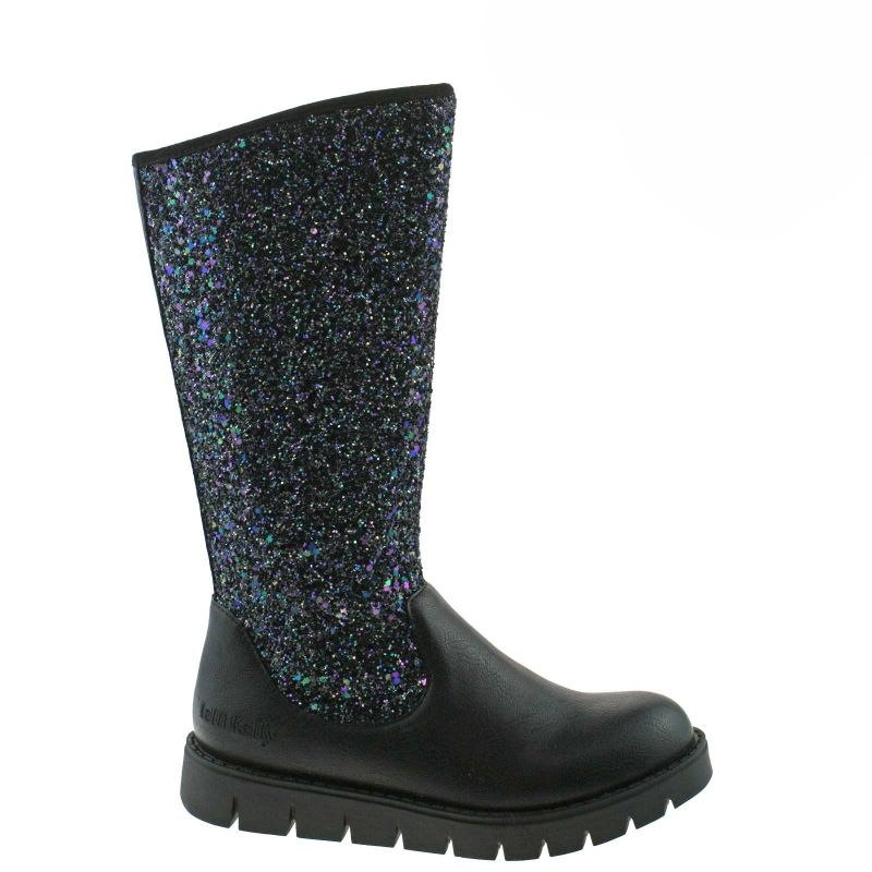 Lelli Kelly LK3662 (ABA5) Glamour Alto Nero Glitter Boots