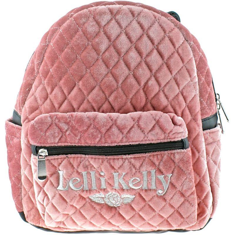 Lelli Kelly LK8399 (AB01) Crushed Quilted Pink Velour School Rucksack Backpack