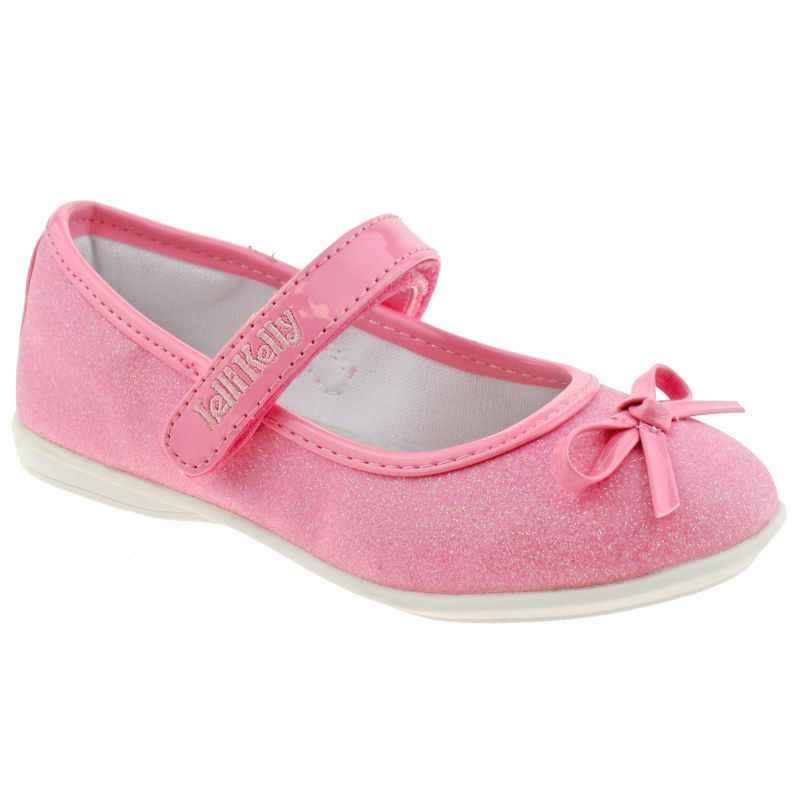 Lelli Kelly LK5700 (LC01) Glitter Rosa Ambra Bow Dolly Shoes