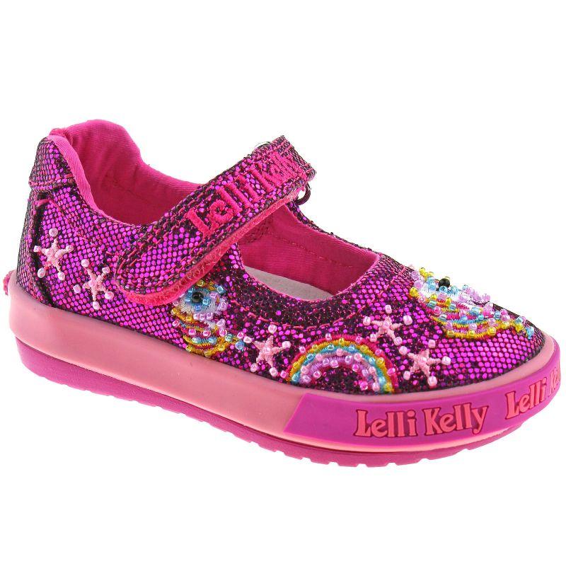 Lelli Kelly LK6000 (GW01) Purple Glitter Abigail Baby Dolly Shoes