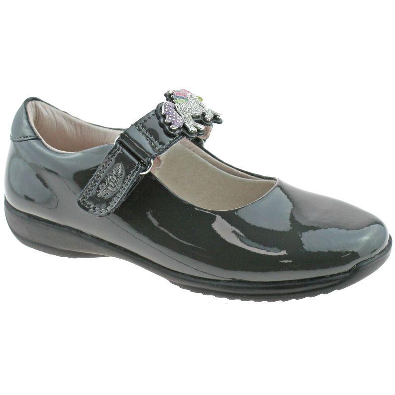 Lelli Kelly LK8312 (DR01) Blossom Grey Patent Interchangeable School Shoes