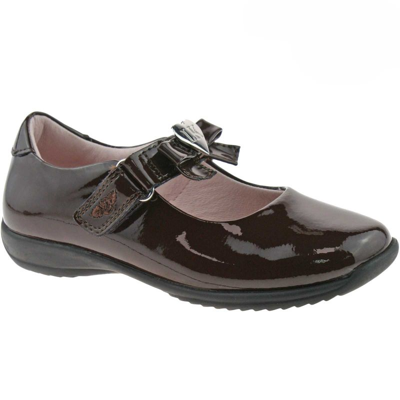 Lelli Kelly LK8000 (DJ01) Brown Patent Rachel School Dolly Shoes F Width