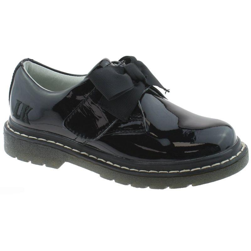 Lelli Kelly LK8284 (DB01) Irene Black Patent School Shoes F Width