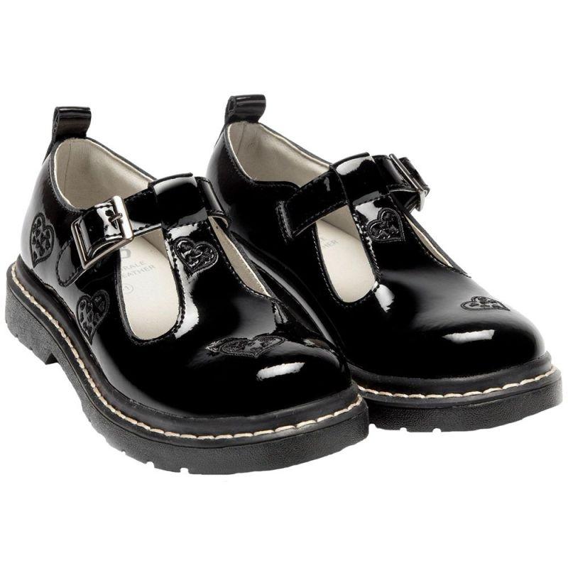 Lelli Kelly LK8295 (DB01) Jennifer Black Patent T-Bar School Shoes F Fitting