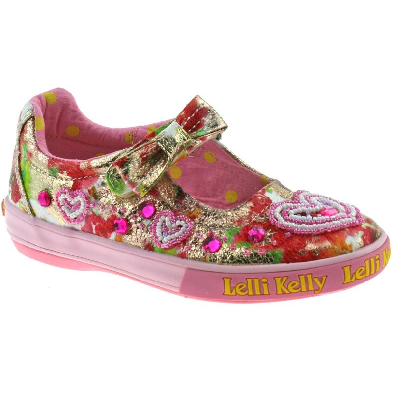 Lelli Kelly LK9198 (BX02) Multi Fantasia Love Heart Dolly Shoes