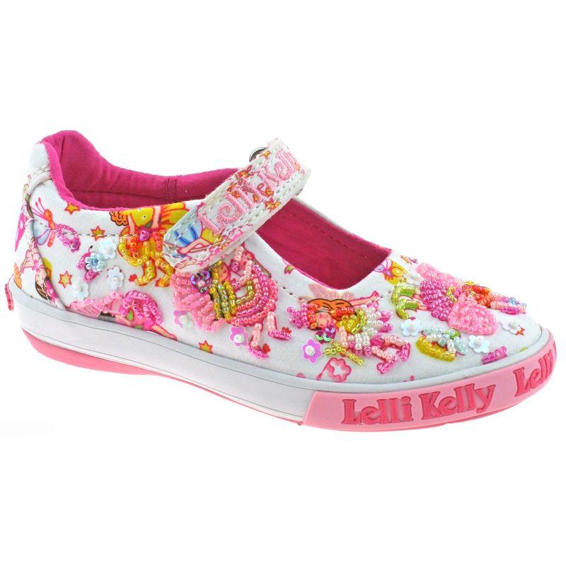 Lelli Kelly LK5054 (BA02) White Fantasy Pollie Dolly Shoes