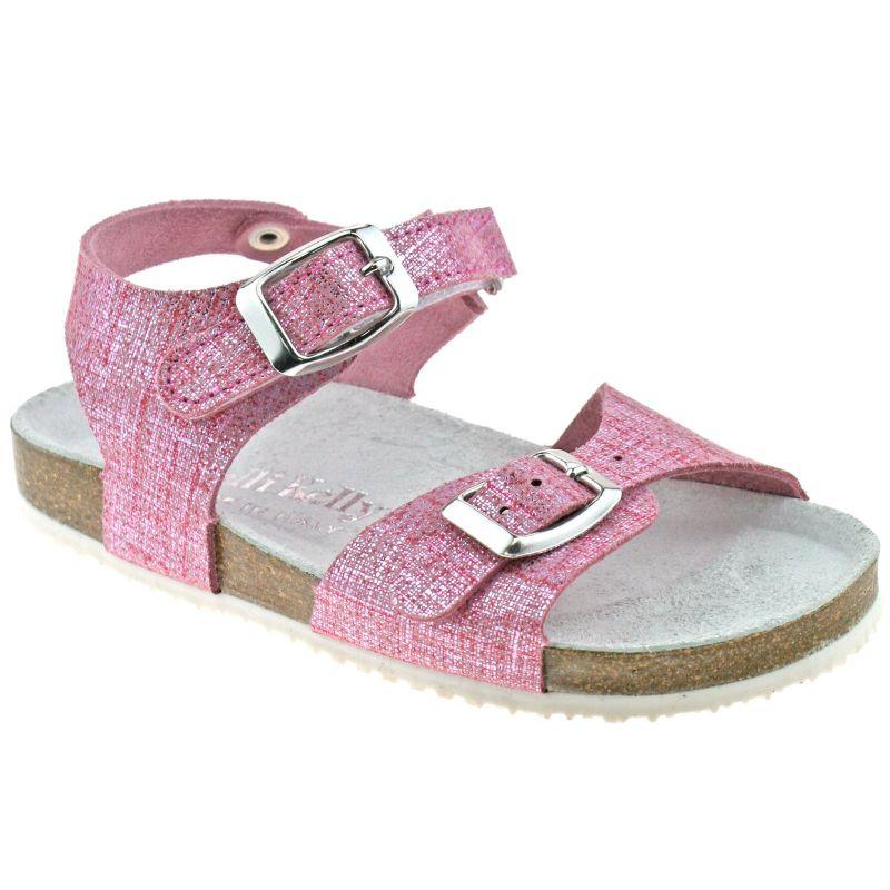 Lelli Kelly LK4584 (GC01) Rosa Glitter Pelle Lara Adjustable Strap Sandals
