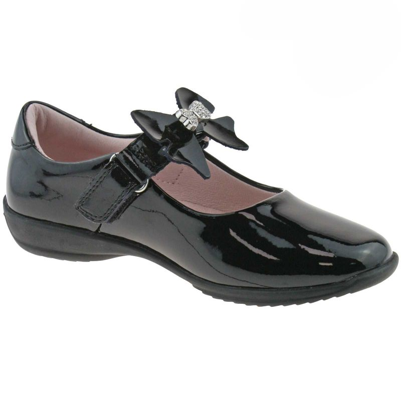 Lelli Kelly LK8340 (DB01) Black Patent Charlotte School Shoes G Fitting