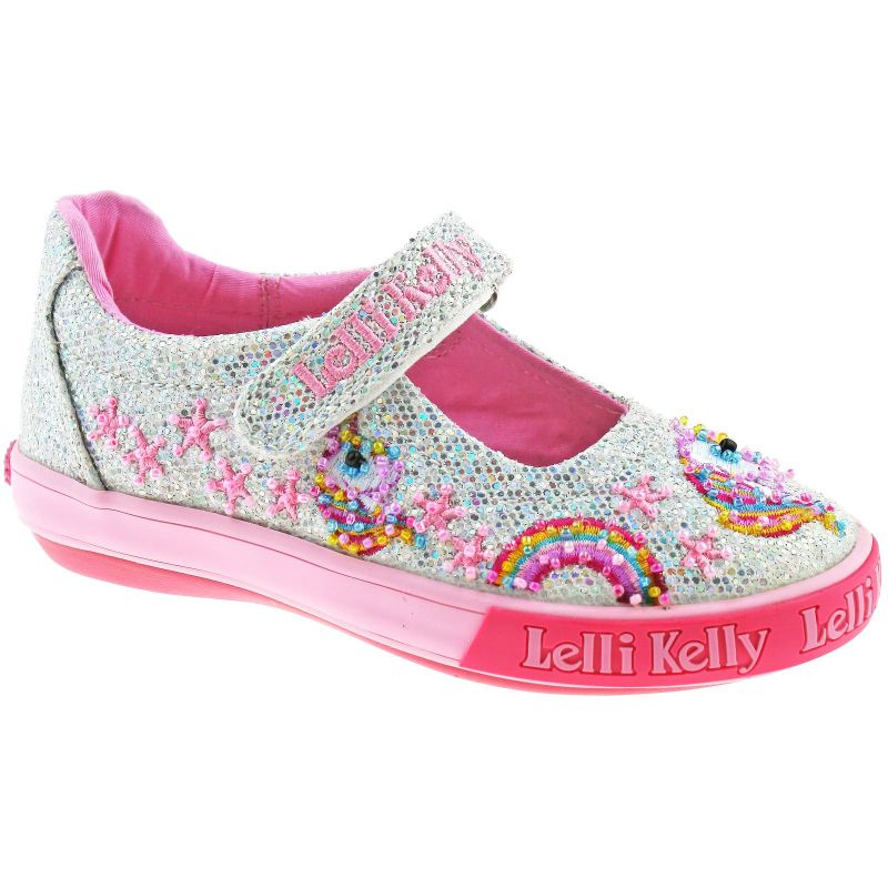 Lelli Kelly LK6020 (GH01) Silver Glitter Abigail Dolly Shoes