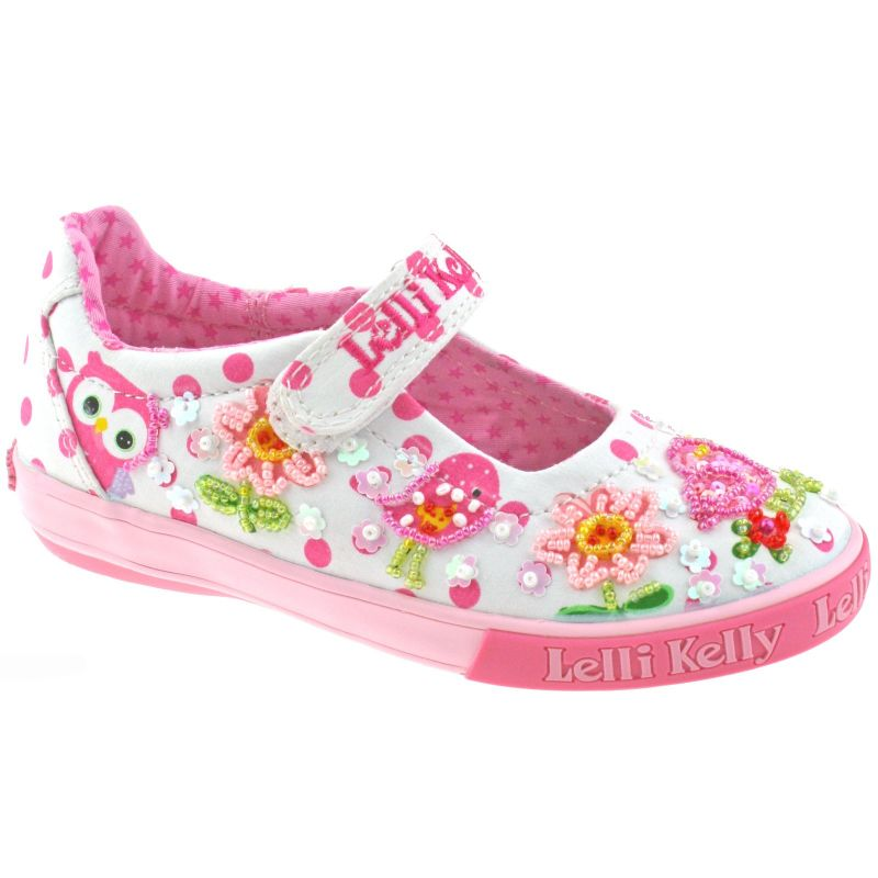 Lelli Kelly LK4068 (BA02) White Fantasy Birdie Dolly Shoes
