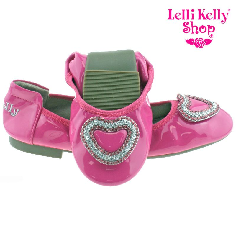 Lelli Kelly LK4108 (AN01) Fuxia Patent Heart Magiche Shoes