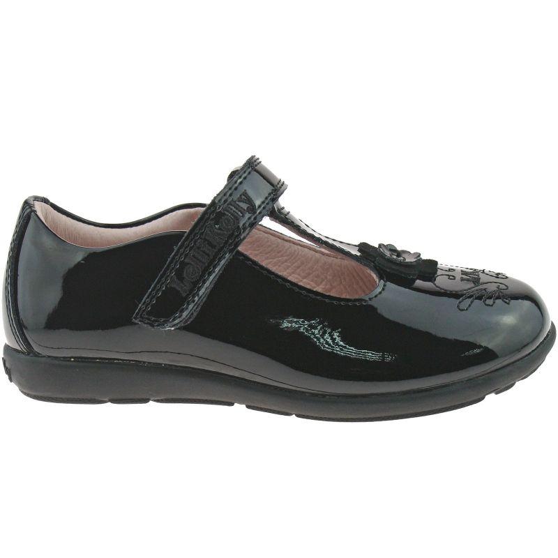 Lelli Kelly LK8255 (DB01) Black Patent Arianna T-Bar School Shoes G Fitting