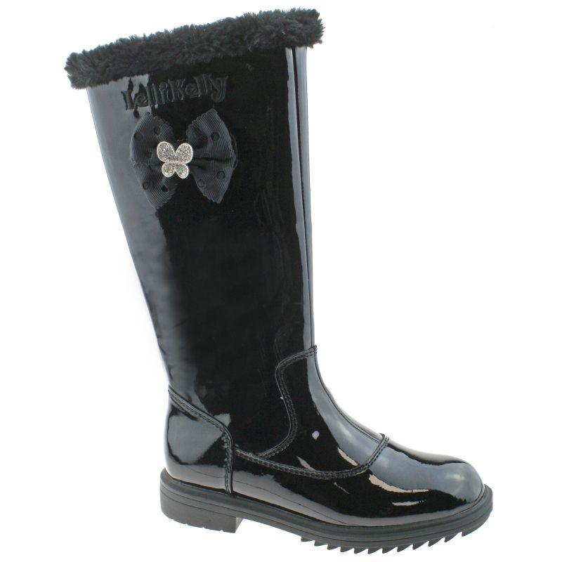 Lelli Kelly LK7658 (DB01) Frances Nero Vernice Fur Lined Boots