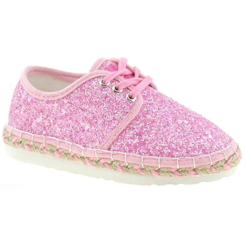 Lelli Kelly LK4608 (LC01) Rose Glitter Ibiza Lightweight Espadrille Shoes